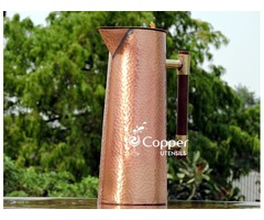 Shop for Copper Designer Jug for Storing and Drinking Tamara Jal