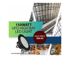 Install 150W UFO LED High Bay Lights For Ideal Overhead Lighting!