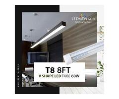 Buy The Best T8 8ft V shape LED Tube Integrated on Sale