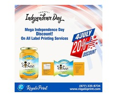 Mega Independence Day Discount! 20% Off On All Label Printing Services