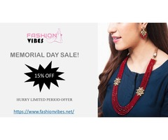 15% OFF On Kundan Jewelery, Designer Jewelery And All The Wedding Accesories
