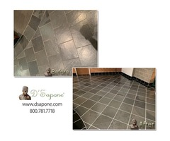 How do you remove stains from floor tile