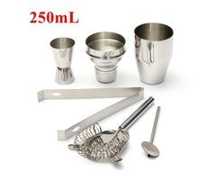 5pcs Bar Drink 250mL Stainless Steel Cocktail Shaker Jigger Mixer Set Bartender Tools