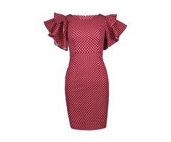 Tidebuy Polk Dots Bodycon Womens Dress