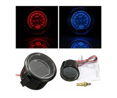 2 Inch 52mm Car LED Water Temperature Gauge 40-140 Celsius Red Blue Universal