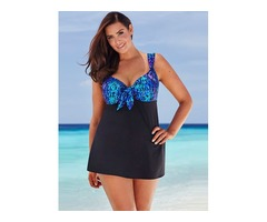 Oversized Two-Piece Skirt Style Swimsuit