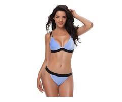 Plain Velvet Bikini Set