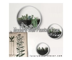 LUXURY MODERN DECOR Offers Entrancing Modern Wall Planter Vase