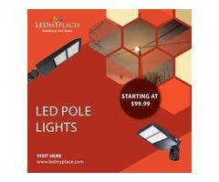 Get DLC Certified LED Pole Light On Sale