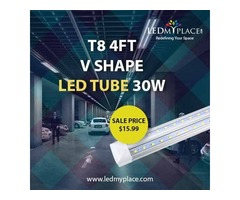 Use T8 4ft V Shape Integrated LED Tube With 5 Years Manufacturer Warranty