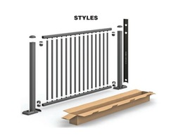 Aluminum Railing kit in a box. | Metal roofing stone covered.