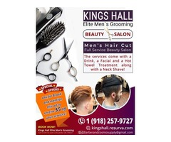 Best Men`s Haircuts, hair styling, shaves & facials
