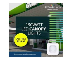 Install Best 150W LED Canopy Lights at the Parking Lots