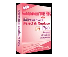 PowerPoint Find and Replace