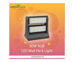 60W RGB LED Wall Pack Light Perfect For Outdoors