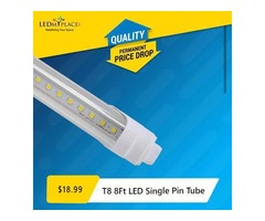 Replace Traditional MH Lights with the Smart Single Pin 8 ft LED Tubes