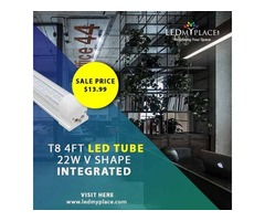 Buy Now T8 4ft LED Tube 22W V Shape Integrated at Cheap Price on Sale