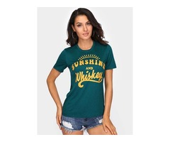Sunshine And Whiskey Letter T-shirt  Tops
