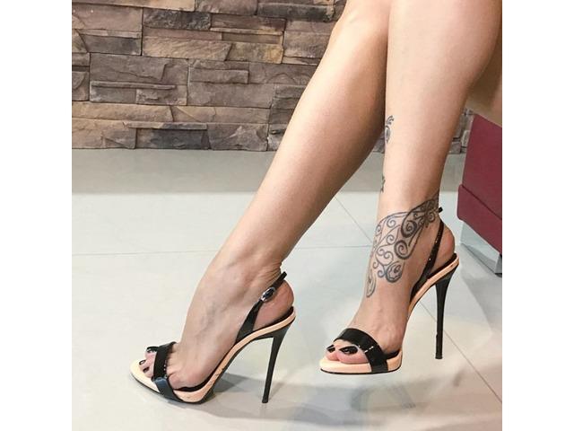 PU Slingback Strap Stiletto Heel Black Sandals | free-classifieds-usa.com