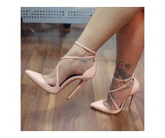PU Plain Pointed Toe Stiletto Heel Pumps