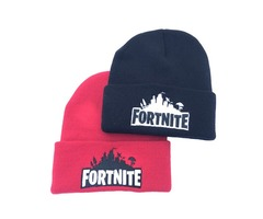 Fortnite Battle Knitted Hat 4 Colors Hip Hop Embroidery Knitted Costume Cap Winter Soft Warm Girls B