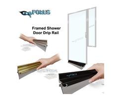 Shower Door Drip Rail - Aluminium Drip Rail | pFOkUS