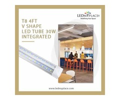 T8 4ft V Shape LED Integrated Tube Best For Indoor Illumination