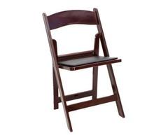 Mahogany Resin Foldng Chair - Larry Hoffman Chair