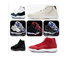 11s Platinum Tint Concord 45 Mens Basketball Shoes 11 Cap and Gown Blackout Stingray Gym Red Midnigh