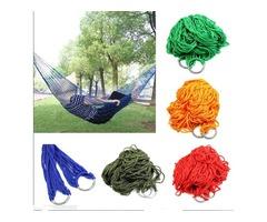 Free shipping Style Mesh Nylon Hammock Hanging Outdoor Garden Swing Sleeping Bed Swing Strong Hammoc