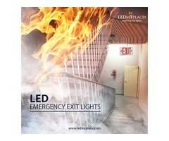 Install LED Emergency Exit Sign To Help Locate An Exit During Disaster