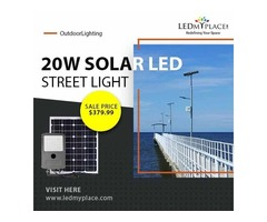 Make Environment Cleaner by installing 20 Watt LED Solar Street Light