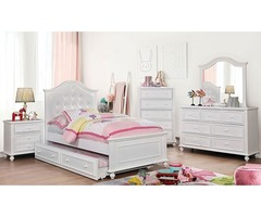 Buy Byron Youth Transitional Bedroom Set in White | Get.Furniture