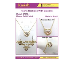 Latest Hearts Necklace With Bracelet on Wholesale Price