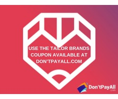 Gain surprising discount with Tailor Brands coupon