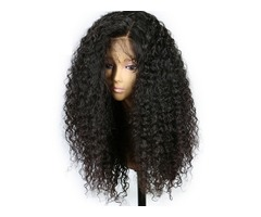 Hot Popular Natural Soft Black Curly Wavy Long Cheap Wigs with Baby Hair Heat Resistant Glueless Syn