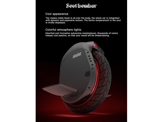 NoTaxNinebotOneZ10FoldableElectricUnicycleWideWheel995Wh530Wh45km/HMaxSpeedBluetooth