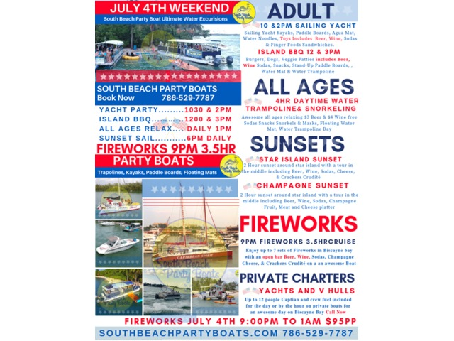 Forth of July 4th Weekend Boat Party | free-classifieds-usa.com