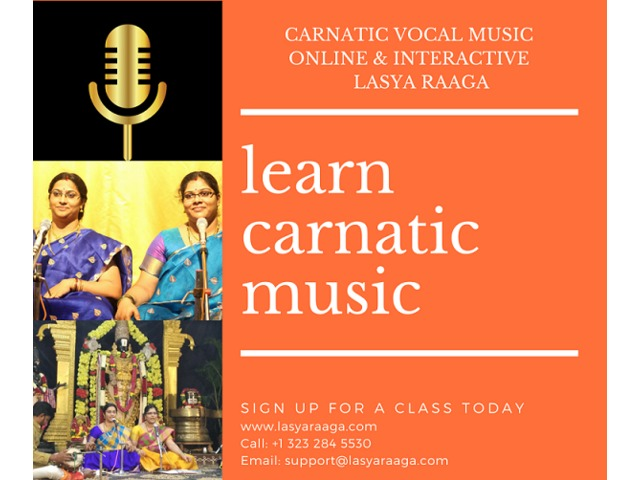 Online Carnatic Vocal Classes | Lasya Raaga | free-classifieds-usa.com