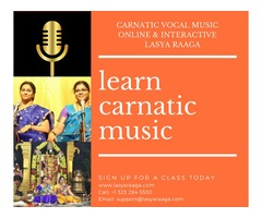 Online Carnatic Vocal Classes | Lasya Raaga