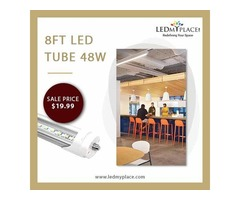 Purchase 8ft LED Tubes Lights 48W at Cheap Price