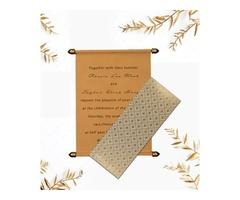 Buy scroll wedding invitation cards Online from 123weddingcards