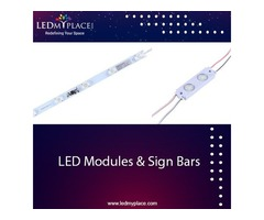 Install LED Module Lights & Sign Bars For Maximum Visibility of Sign Boards!