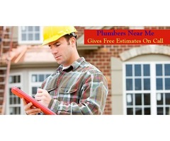 Plumbers Near Me Gives Free Estimates On Call
