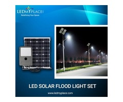 Use LED Solar Flood Lights Rather Than Normal Lights At The Outdoor Locations