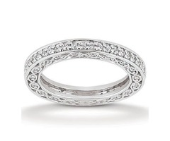Eternity Diamond and Gold Wedding Band New York City