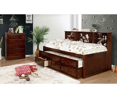 Buy luxury Homer Youth Transitional Bed in Cherry | Get.Furniture