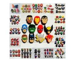 1000pcs Mario Avenger Super Hero Cartoon PVC Shoe Buckle Shoe Charm Fit Croc Shoes&Wristbands Ac