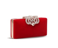 Solid Color Rhinestone Decorated Clutch/Evening Bag