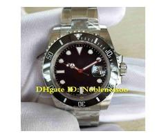 2 Color Luxury Mens 40mm 116610 116610LN 116610LV 904L Steel Ceramic ETA 3135 Movement Automatic Men